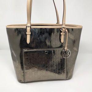 Michael Kors Tote / Satchel Platinum Purse / Bag